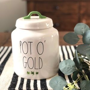 Rae Dunn Pot of Gold Canister
